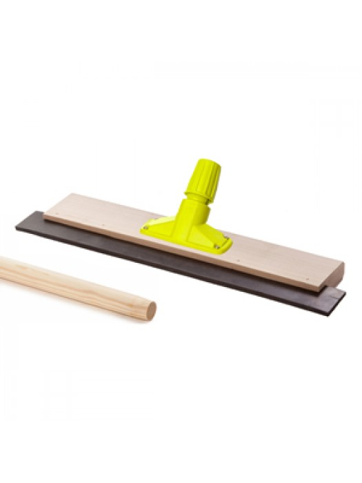 Wooden Floor Squeegee 18 inch 457mm with Quick Release Socket & 5FT 1500mm Long Handle