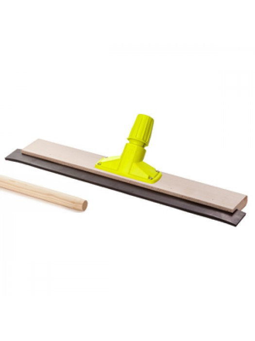 Wooden Floor Squeegee 24 inch 610mm with Quick Release Socket & 5FT 1500mm Long Handle