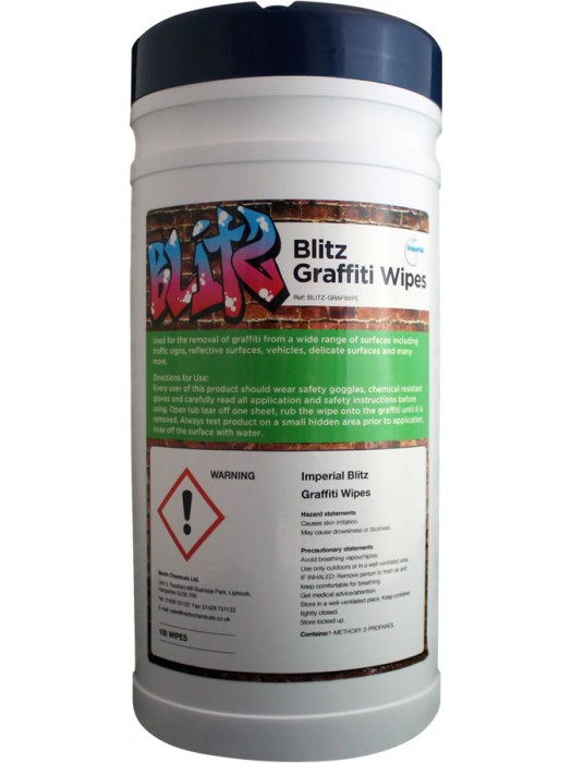Blitz Graffiti Wipes 100/Tub