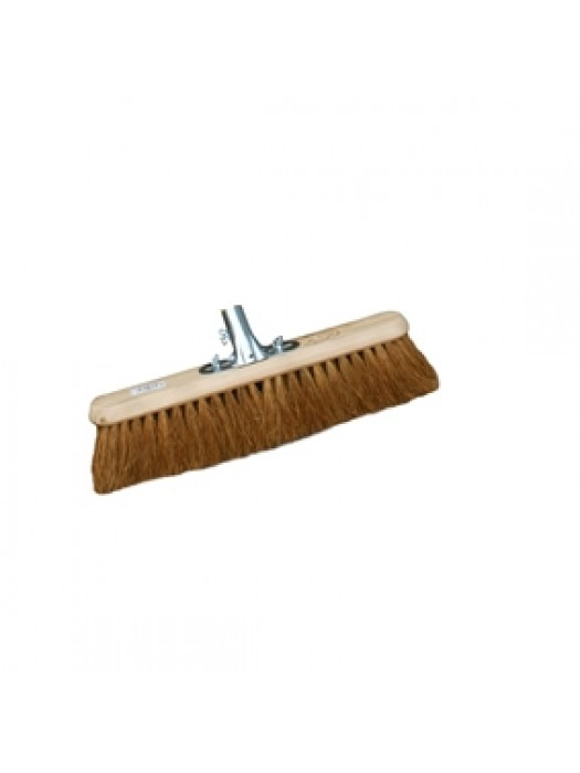 "Soft Coco Sweeping Broom Brush 18"" 450mm with Socket Bracket"