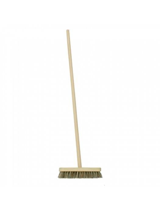 "Deck Stiff Scrub Brush 10"" 254mm Union Fill with Handle"
