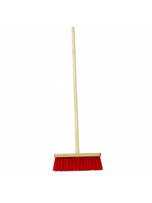 "Stiff Poly Broom Brush 11"" 275mm with Handle"