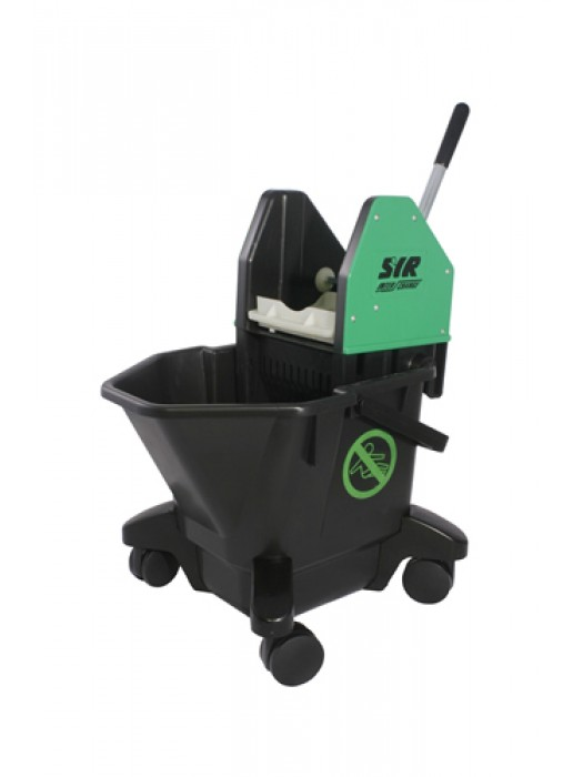 20 Litre SYR Ebony Mop Bucket on Wheels with Wringer Red Green