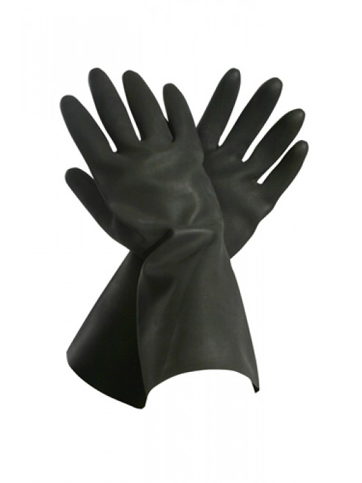Black Heavy Duty Rubber Gloves