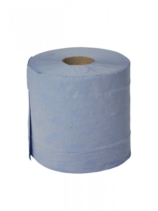 Centrefeed Paper Tissue Roll Blue 2Ply  Pack of 6