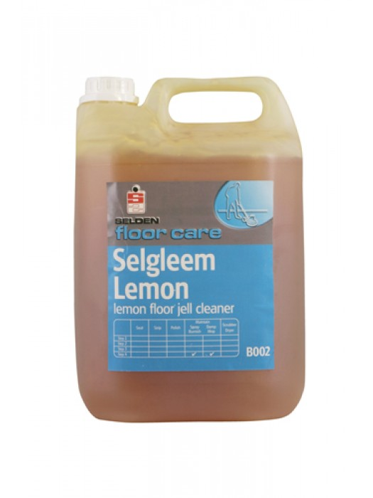 Selden B002 Selgleem Lemon Floor Gel Maintainer Cleaner Polish 5L