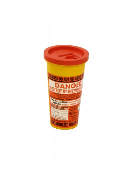 Sharps Syringe Needle Disposal Bin 1L