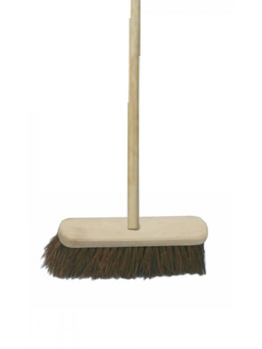 "Stiff Bass Sweeping Broom Brush 12"" 300mm with Handle"
