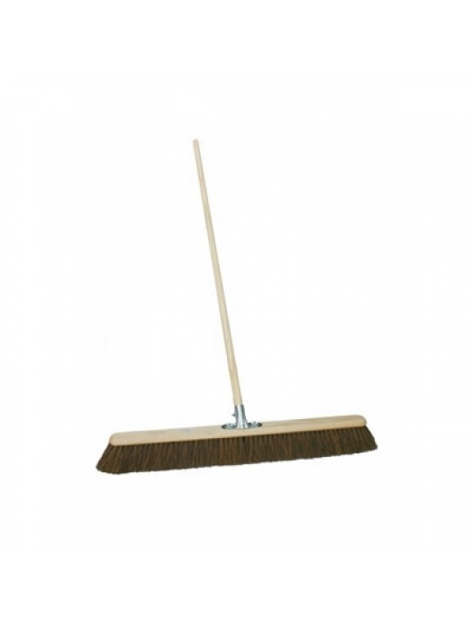 "Stiff Bassine Pavement Sweeping Broom 24"" (600mm) with Socket & Handle"