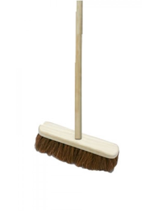 "Soft Coco Sweeping Broom Brush 12"" 300mm with Handle"