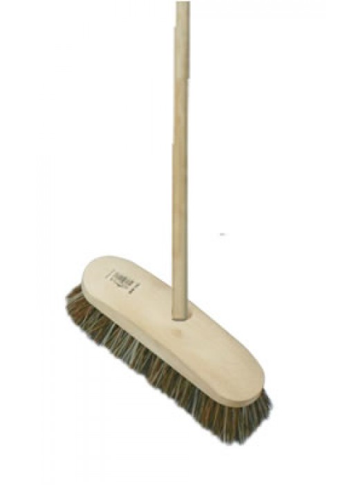 "Deck Stiff Scrub Brush 9"" 228mm Union Fill with Handle"